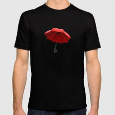 Red Umbrella Mens Fitted Tee Black SMALL