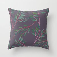 2016 Calendar Print - Red Branch Throw Pillow