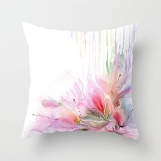 garden summer flowers  Throw Pillow