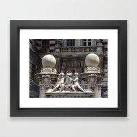 Space Shuttle Enterprise, Intrepid Flight Deck, New York City, USA Framed Art Print