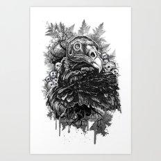 Vulture and Pine Art Print