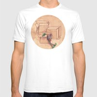 Tres Cajas De Cartón Y … Mens Fitted Tee White SMALL