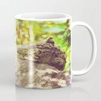 Sleepy Snow Leopard  Mug