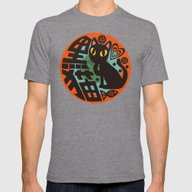 Black Cat Mens Fitted Tee Tri-Grey SMALL