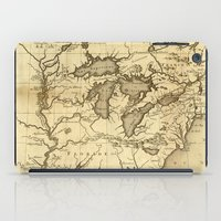 Great Lakes Map - 1737 iPad Case
