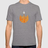 Retro Rocket Mens Fitted Tee Tri-Grey SMALL