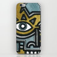 Blue and Gold Face iPhone & iPod Skin