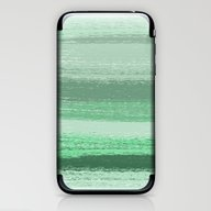 Stripey Mint iPhone & iPod Skin