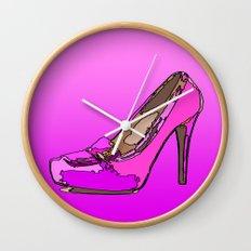 Weekend in pink Wall Clock