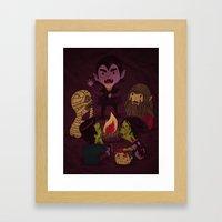 Horror Tales Framed Art Print