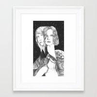 space ladies Framed Art Print