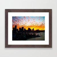 Miami Dusk Framed Art Print