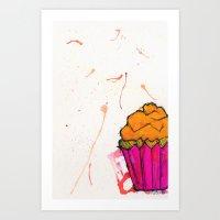 Cupcake. Art Print