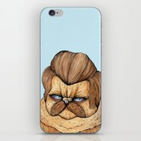 Ron Swanson Cat iPhone & iPod Skin