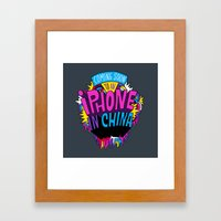 Coming Soon to an iPhone in China! Framed Art Print