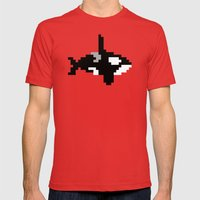 8-bit Orca Mens Fitted Tee Red SMALL