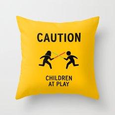 Children at Play Throw Pillow