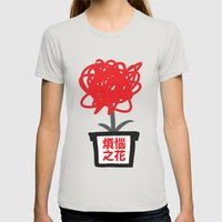 Flower Of Frustrations Womens Fitted Tee Silver SMALL