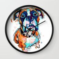 Wall Clock featuring Boxer Love by Cartoon Your Memorie…