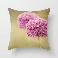 Alliums  Throw Pillow