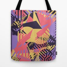 Dazzle Camo #03 - Purple & Yellow Tote Bag