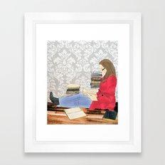 A studious world... Framed Art Print