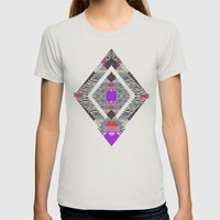RETRO KALEIDOSKOPE   Womens Fitted Tee Silver SMALL