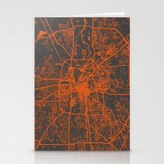 Houston Map Stationery Cards