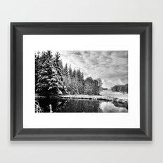 Elterwater Snow Framed Art Print
