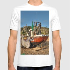 Port Of Rye SMALL White Mens Fitted Tee