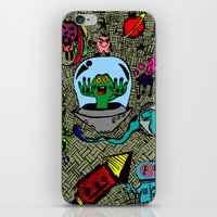 Aliens in Space iPhone & iPod Skin