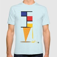 Ice-cream museum Mens Fitted Tee Light Blue SMALL