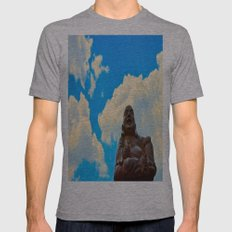 Happy Buddha On A Beauti… Mens Fitted Tee Athletic Grey SMALL