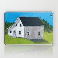 White Farmhouse. Laptop & iPad Skin