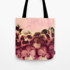 Vintage Tones Pansies Tote Bag