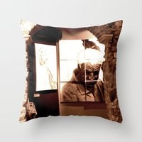 Trapped Man Throw Pillow