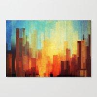 Urban sunset Canvas Print