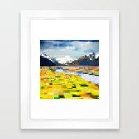 Pixel Landscape Framed Art Print