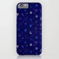 iPhone Cases featuring Dark sky with mystic signs by tukkki