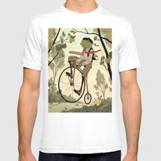 Morning Ride Mens Fitted Tee White SMALL