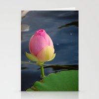 Lotus Blossom 4 Stationery Cards