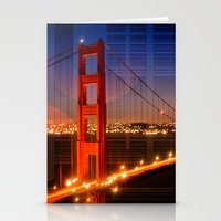 Golden Gate Bridge | Geometric Mix No.1 Stationery Cards