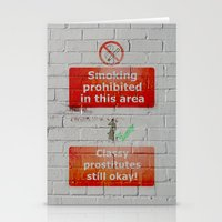 double standards Stationery Cards