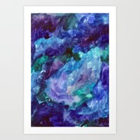 Pillars of creation Art Print