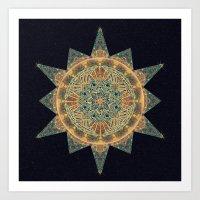 Life Star Mandala Art Print