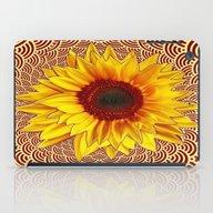 Golden Yellow Radiant Su… iPad Case