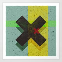 cross Art Prints featuring CROSS by Metron