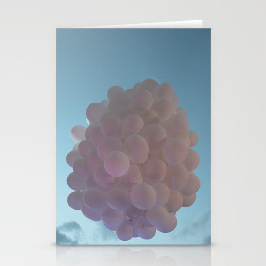 up up and away - balloons Stationery Card