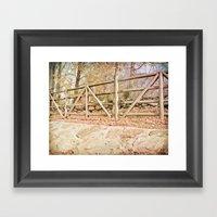 Sticks and Stones Framed Art Print