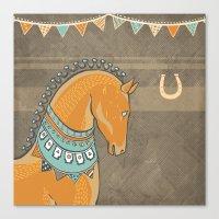 Horse Head - Chocolate Canvas Print